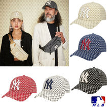 MLB Korea☆NY Yankees Monogram curve 調節 キャップ 32CPFB911