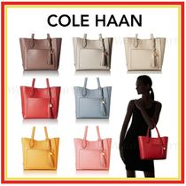 COLE HAAN★タッセル付レザートート★Piper Small Leather Tote