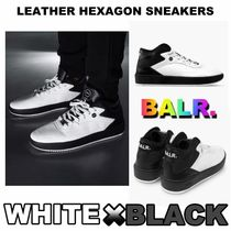 2019SS☆【BALR.】 LEATHER HEXAGON SNEAKERS WHITE / BLACK