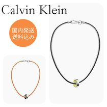 CalvinKleinカルバンクラインBEARING BEADED LEATHER NECKLACE