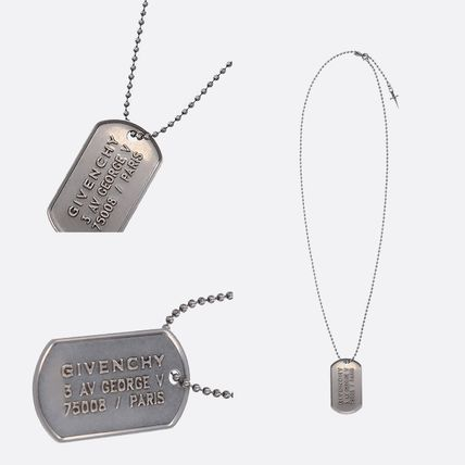 GIVENCHY ネックレス・チョーカー GIVENCHY METAL NECKLACE WITH LOGOED TAG