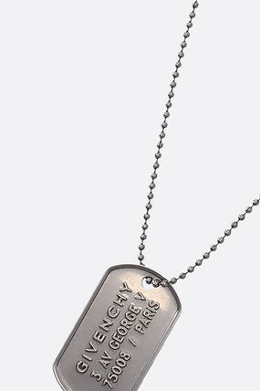 GIVENCHY ネックレス・チョーカー GIVENCHY METAL NECKLACE WITH LOGOED TAG(2)