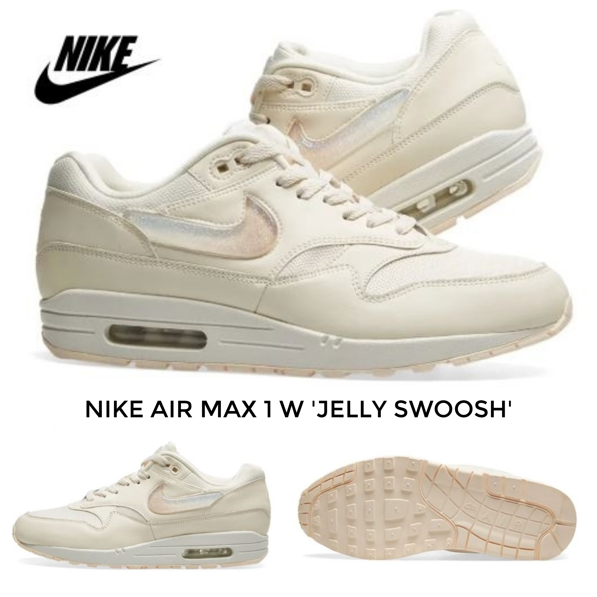 Nike AIR MAX 1 2019 SS Street Style Low Top Sneakers (AT5248 100)