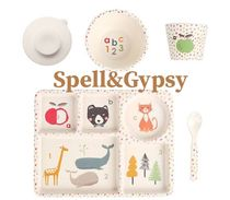 SPELL(スペル) おしゃぶり・授乳・離乳食グッズ Spell&The Gypsy プレゼント◎赤ちゃんに優しい素材 食器5セット