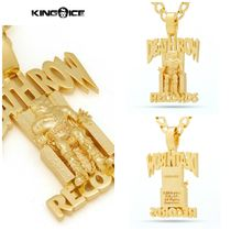 【King Ice】14K Solid Gold KingIce x Death Row Logo Necklace