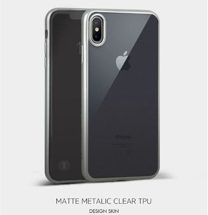 DESIGN SKIN スマホケース・テックアクセサリー [DESIGN SKIN]★4色★MATTE METALIC CLEAR TPU CASE(2)