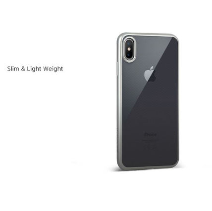 DESIGN SKIN スマホケース・テックアクセサリー [DESIGN SKIN]★4色★MATTE METALIC CLEAR TPU CASE(3)