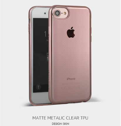 DESIGN SKIN スマホケース・テックアクセサリー [DESIGN SKIN]★4色★MATTE METALIC CLEAR TPU CASE(7)
