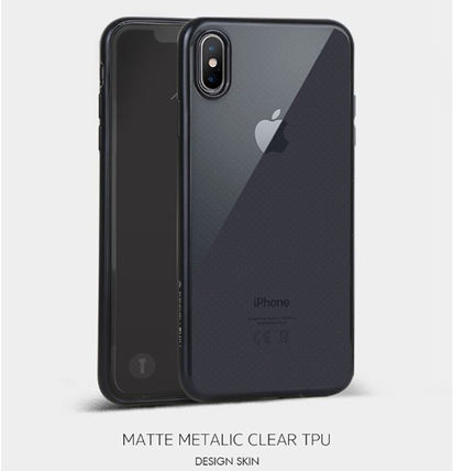 DESIGN SKIN スマホケース・テックアクセサリー [DESIGN SKIN]★4色★MATTE METALIC CLEAR TPU CASE(12)