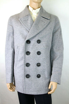 Burberry ピーコート Burberry★素敵!Grey Melange Wool Cashmere Pea Coat(7)
