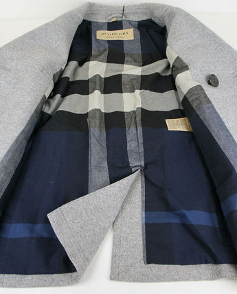 Burberry ピーコート Burberry★素敵!Grey Melange Wool Cashmere Pea Coat(12)