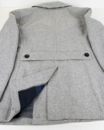 Burberry ピーコート Burberry★素敵!Grey Melange Wool Cashmere Pea Coat(13)