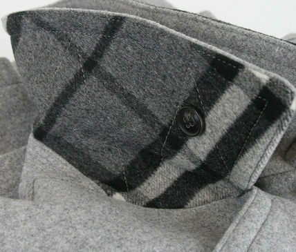 Burberry ピーコート Burberry★素敵!Grey Melange Wool Cashmere Pea Coat(15)