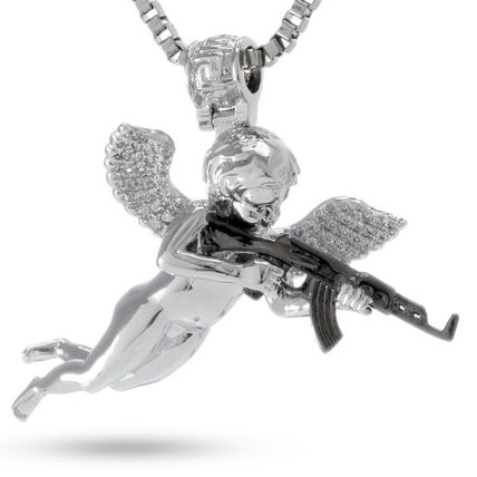 King Ice ネックレス・チョーカー 【関税送料込み】The White Gold Archangel of Reprisal