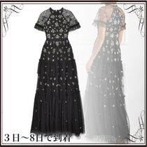 関税込◆Lustre tiered embellished tulle gown