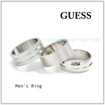GUESS☆Men's 新作☆SCOTT SILVER-TONE メンズリング3点セット