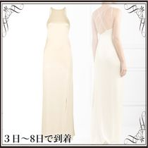 関税込◆Open-back satin gown