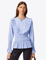 Tory Burch SMOCKED COTTON TOP