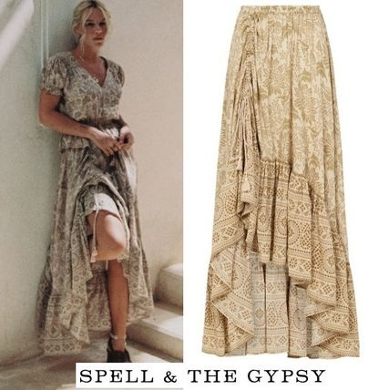 SPELL スカート 追跡送料込☆シルエットが美しい LIONESS RUCHED MAXI SKIRT