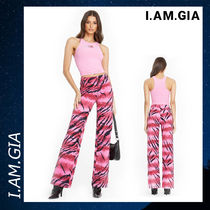 I.AM.GIA ズボン ボトムス ストレート レッグパンツ ピンク 綿