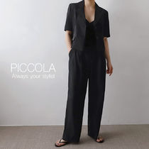 ■PICCOLA■ 【2COLOR】クロップドジャケットセットアップ