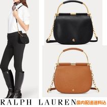 ラルフローレンRALPH LAUREN☆Mini Leather Round Satchel