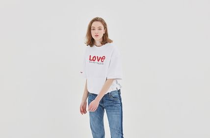 ROMANTIC CROWN Tシャツ・カットソー ROMANTIC CROWN★[R.C X M.G]WITH LOVE Pocket T Shirts 3カラー(3)