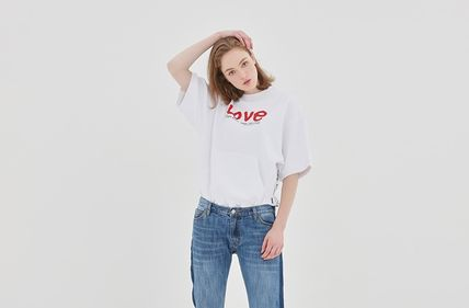ROMANTIC CROWN Tシャツ・カットソー ROMANTIC CROWN★[R.C X M.G]WITH LOVE Pocket T Shirts 3カラー(4)