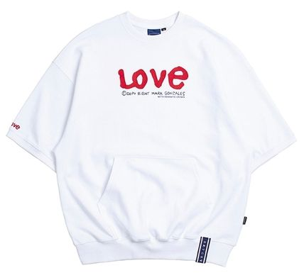 ROMANTIC CROWN Tシャツ・カットソー ROMANTIC CROWN★[R.C X M.G]WITH LOVE Pocket T Shirts 3カラー(5)