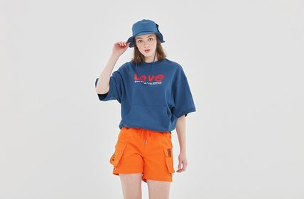 ROMANTIC CROWN Tシャツ・カットソー ROMANTIC CROWN★[R.C X M.G]WITH LOVE Pocket T Shirts 3カラー(7)