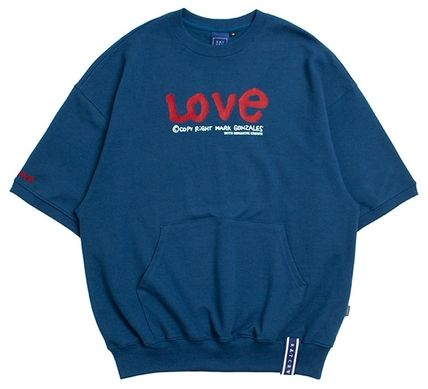 ROMANTIC CROWN Tシャツ・カットソー ROMANTIC CROWN★[R.C X M.G]WITH LOVE Pocket T Shirts 3カラー(10)
