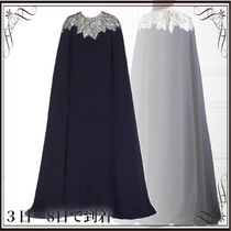 関税込◆Cape-effect crystal-embellished silk crepe de chine