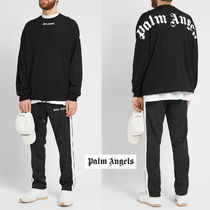 ◆Palm Angels◆ LOGO OVER SWEATER ブラックxホワイト ロゴ