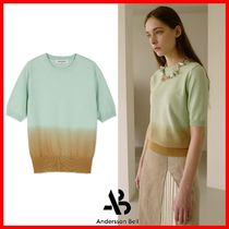 ☆【ANDERSSON BELL】☆SHORT SLEEVE PIECE DYEING SWEATER☆