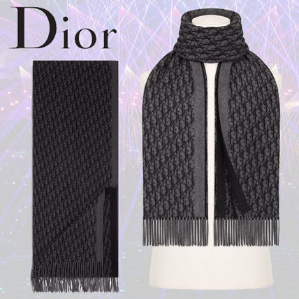 best website d1ce4 d916e 19FALL Diorディオール DIOR OBLIQUEジャカードシルクマフラー