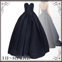 関税込◆Pleated silk-faille gown