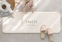 【DECO VIEW】 French flower embroidery kitchen mat