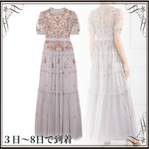 関税込◆Carnation sequin-embellished embroidered tulle gown