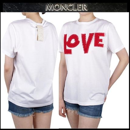 MONCLER Tシャツ・カットソー 【MONCLER】19SS GENIUS LOVE ロゴパッチ Tシャツ WHITE/追跡付