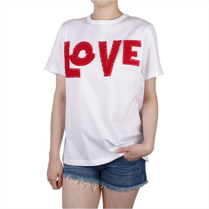 MONCLER Tシャツ・カットソー 【MONCLER】19SS GENIUS LOVE ロゴパッチ Tシャツ WHITE/追跡付(2)
