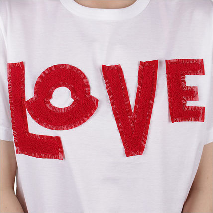 MONCLER Tシャツ・カットソー 【MONCLER】19SS GENIUS LOVE ロゴパッチ Tシャツ WHITE/追跡付(5)