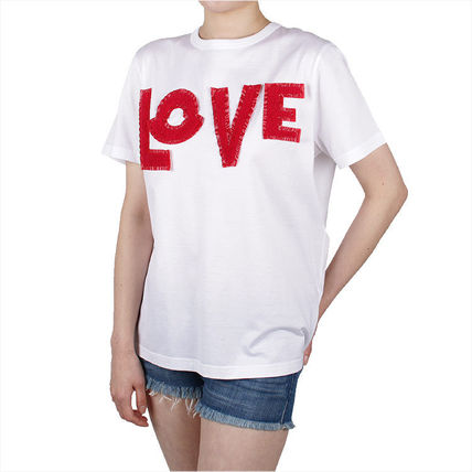 MONCLER Tシャツ・カットソー 【MONCLER】19SS GENIUS LOVE ロゴパッチ Tシャツ WHITE/追跡付(7)
