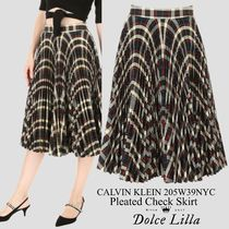 Calvin klein 205w39nyc pleated check skirt