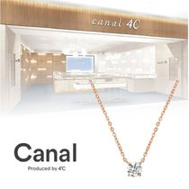 canal 4℃★上品一粒ピンクゴールドネックレス★ラッピング無料