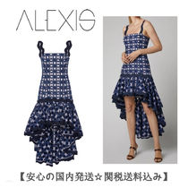 19PF 在庫薄【Alexis】Krisna High-Low クレープ デ シン Dress