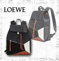 【LOEWE】AW19 Puzzle Trainers Backpack Black/Tan
