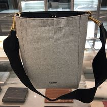 【CELINE】Sangle Small Bucket Bag Textile (Black/White)