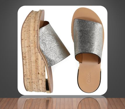 Chloe**Wedge sandals CAMILLE leather Laminated