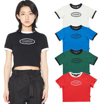 ★CHARM'S★韓国 Tシャツ CHARMS ROSE CIRCLE LOGO CROP T 4色