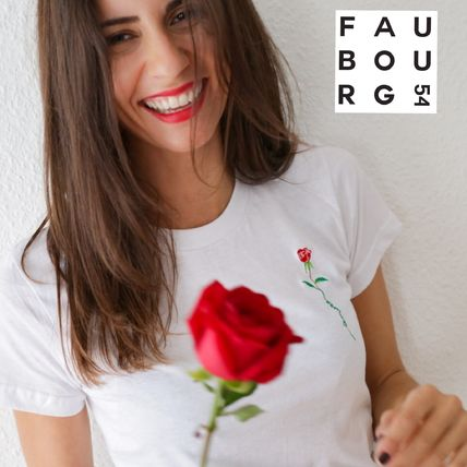 FAUBOURG54 Tシャツ・カットソー 日本未入荷☆FAUBOURG54★T-shirt Rose Amour バラTシャツ